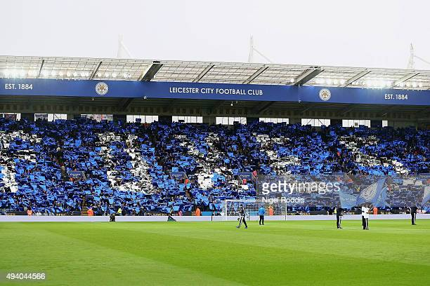 A general view of the stadium prior to the Barclays Premier League match between Leicester City and Crystal Palace at The King Power Stadium on...