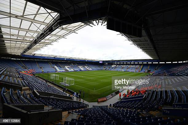 A general view of the stadium prior to the Barclays Premier League match between Leicester City and Watford at The King Power Stadium on November 7...