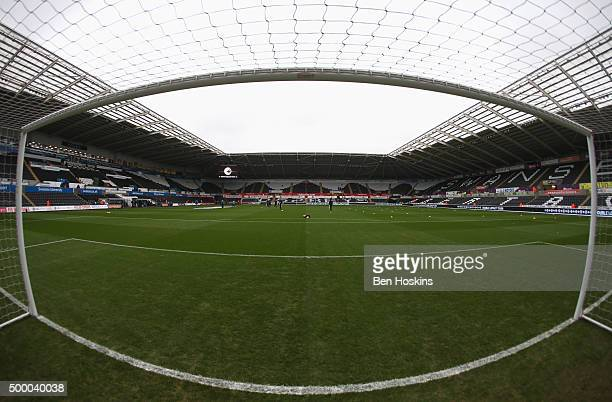 A general view of the stadium prior to the Barclays Premier League match between Swansea City and Leicester City at Liberty Stadium on December 5...