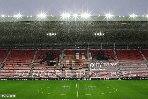 A general view of the stadium prior to the Barclays Premier League match between Sunderland and Watford at the Stadium of Light on December 12 2015...