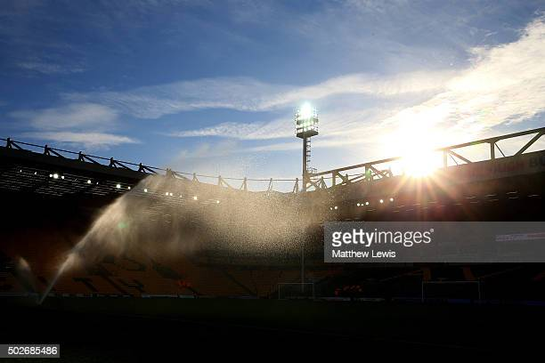 A general view of the stadium prior to the Barclays Premier League match between Norwich City and Aston Villa at Carrow Road on December 28 2015 in...