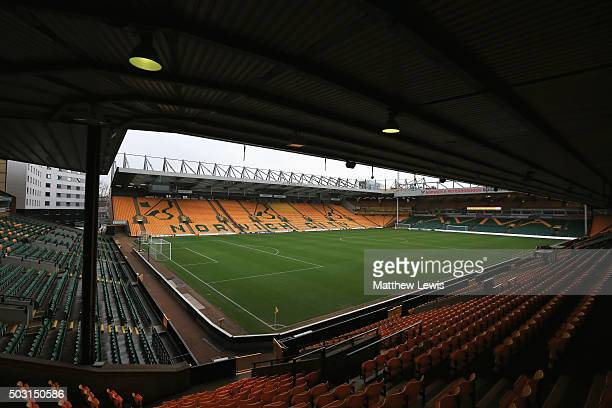 A general view of the stadium prior to the Barclays Premier League match between Norwich City and Southampton at Carrow Road on January 2 2016 in...