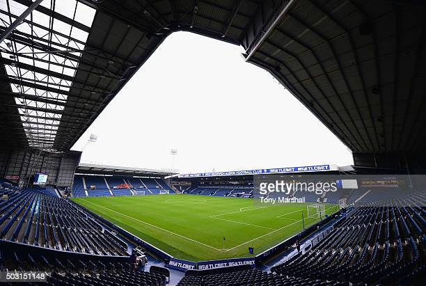 A general view of the stadium prior to the Barclays Premier League match between West Bromwich Albion and Stoke City at The Hawthorns on January 2...
