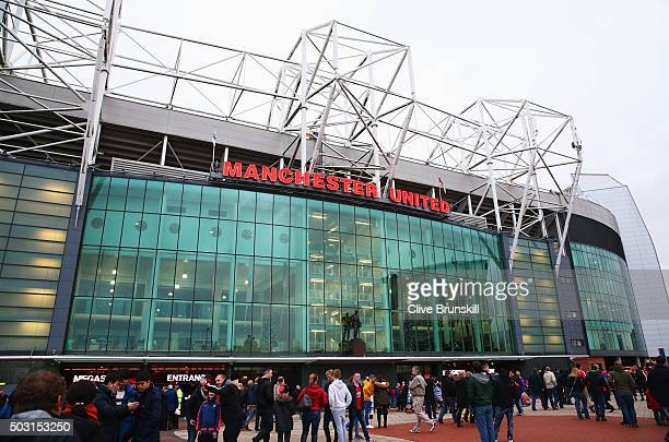 A general view of the stadium prior to the Barclays Premier League match between Manchester United and Swansea City at Old Trafford on January 2 2016...