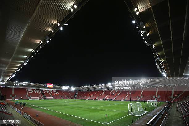 A general view of the stadium prior to the Barclays Premier League match between Southampton and Watford at St Mary's Stadium on January 13 2016 in...