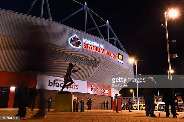 A general view of the stadium prior to the Barclays Premier League match between Sunderland and Manchester City at the Stadium of Light on February 2...