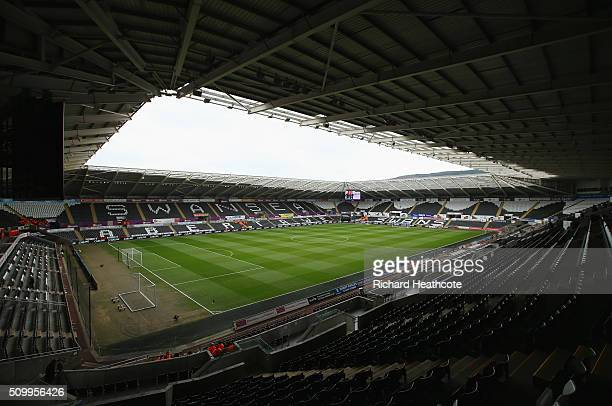 A general view of the stadium prior to the Barclays Premier League match between Swansea City and Southampton at Liberty Stadium on February 13 2016...