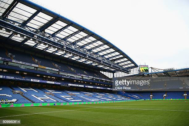A general view of the stadium prior to the Barclays Premier League match between Chelsea and Newcastle United at Stamford Bridge on February 13 2016...