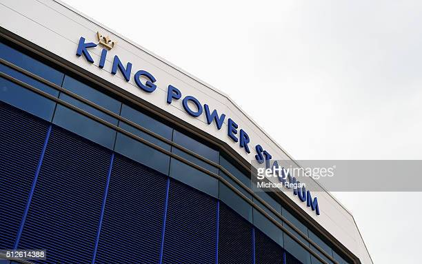 A general view of the stadium prior to the Barclays Premier League match between Leicester City and Norwich City at The King Power Stadium on...