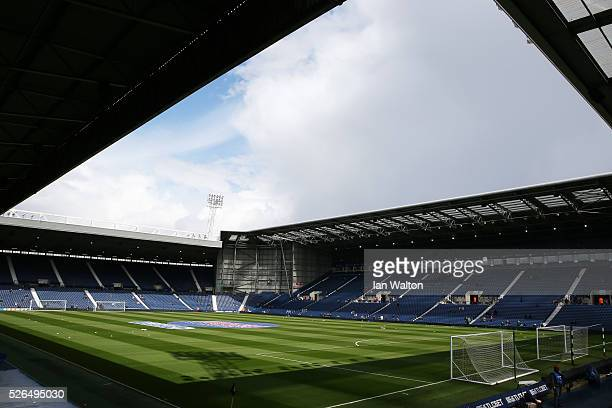 A general view of the stadium prior to the Barclays Premier League match between West Bromwich Albion and West Ham United at The Hawthorns on April...