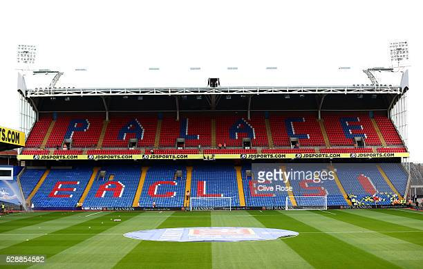 A general view of the stadium prior to the Barclays Premier League match between Crystal Palace and Stoke City at Selhurst Park on May 7 2016 in...
