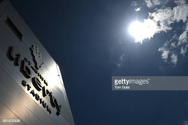 A general view of the stadium prior to the Barclays Premier League match between Swansea City and Manchester City at the Liberty Stadium on May 15...