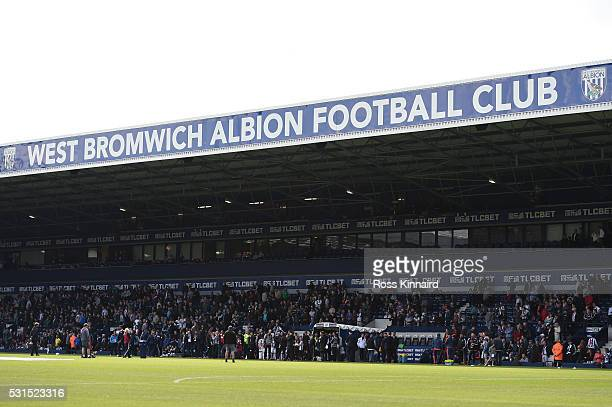 A general view of the stadium prior to the Barclays Premier League match between West Bromwich Albion and Liverpool at The Hawthorns on May 15 2016...