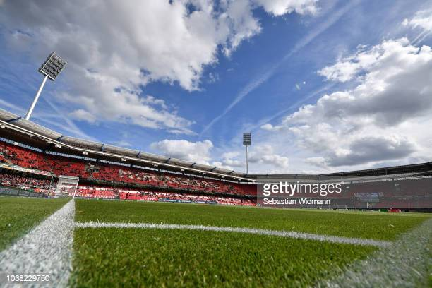 A general view of the stadium prior to the Bundesliga match between 1 FC Nuernberg and Hannover 96 at MaxMorlockStadion on September 22 2018 in...