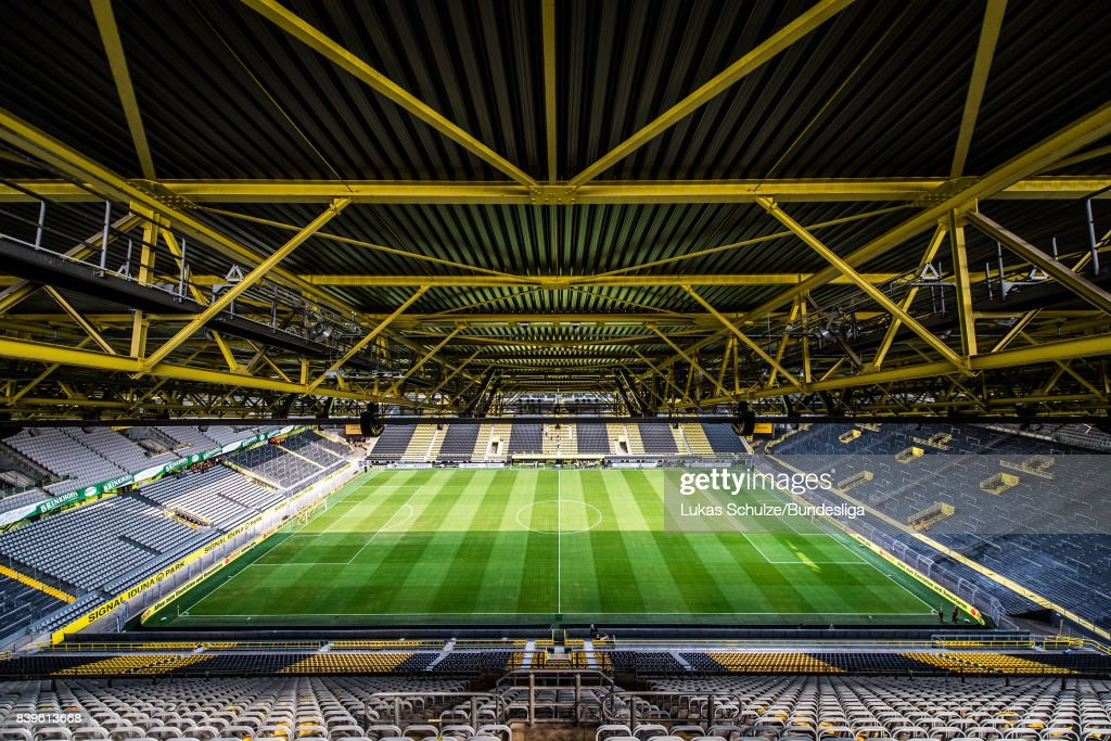 General view of the stadium prior to the Bundesliga match between Borussia Dortmund and Hertha BSC at Signal Iduna Park on August 26, 2017 in Dortmund, Germany.