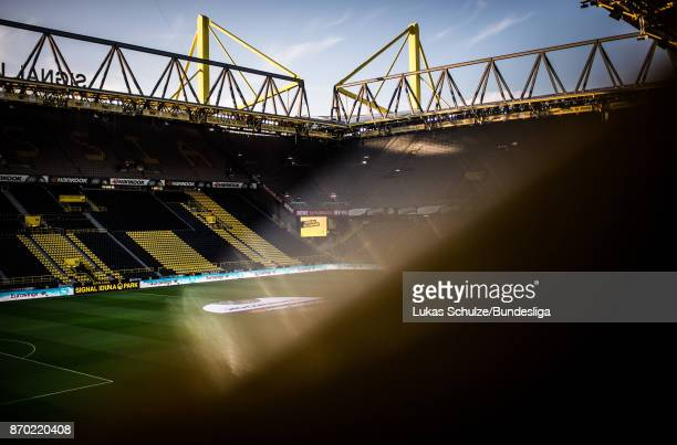 General view of the stadium prior to the Bundesliga match between Borussia Dortmund and FC Bayern Muenchen at Signal Iduna Park on November 4 2017 in...