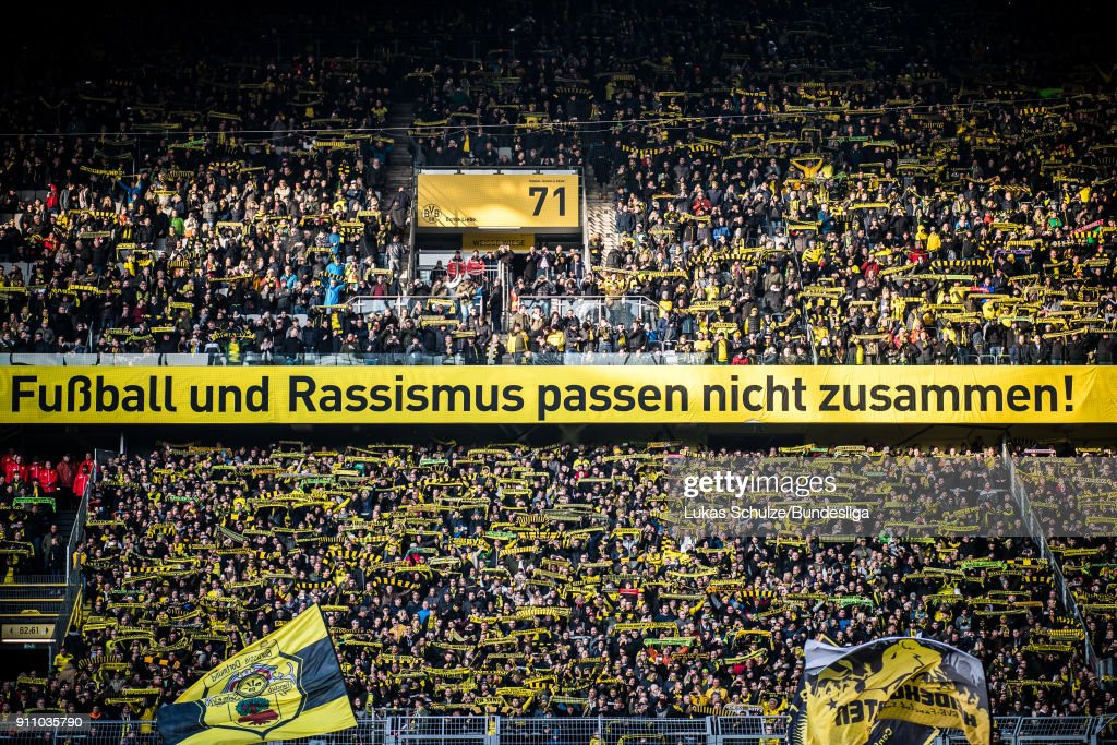 General view of the stadium prior to the Bundesliga match between Borussia Dortmund and Sport-Club Freiburg at Signal Iduna Park on January 27, 2018 in Dortmund, Germany.