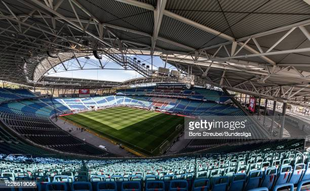 General view of the stadium prior to the Bundesliga match between RB Leipzig and 1. FSV Mainz 05 at Red Bull Arena on September 20, 2020 in Leipzig,...