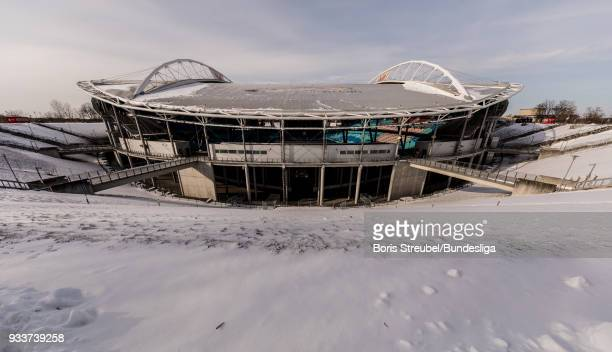 A general view of the stadium prior to the Bundesliga match between RB Leipzig and FC Bayern Muenchen at Red Bull Arena on March 18 2018 in Leipzig...