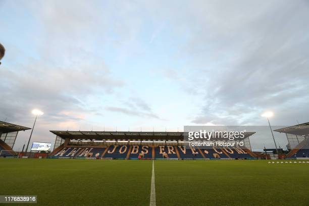 General view of the stadium prior to the Carabao Cup Third Round match between Tottenham Hotspur and Colchester United at JobServe Community Stadium...