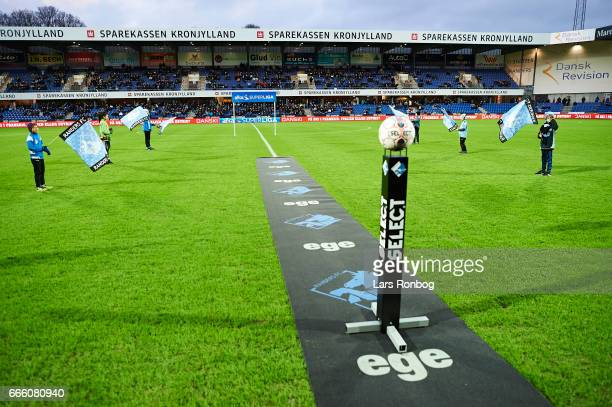 General view of the stadium prior to the Danish Alka Superliga match between Randers FC and AC Horsens at BioNutria Park on April 7 2017 in Randers...