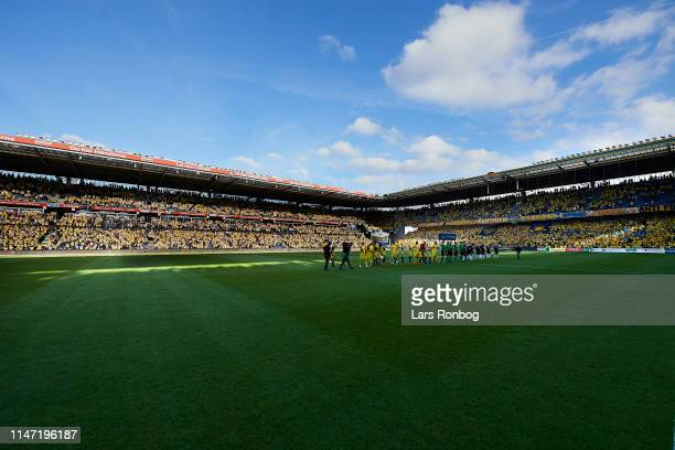 General view of the stadium prior to the Danish Superliga Europa League Playoff match between Brondby IF and Randers FC at Brondby Stadion on May 31...