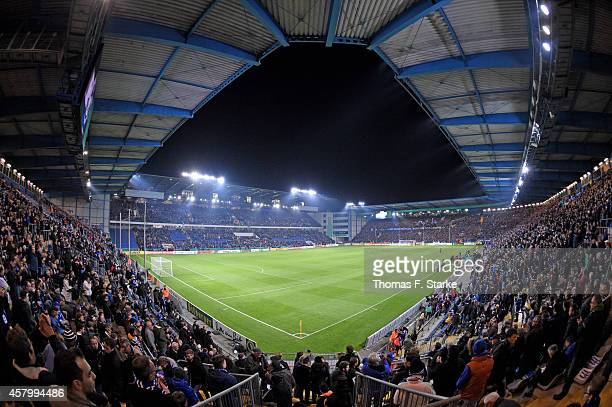 A general view of the stadium prior to the DFB Cup match between Arminia Bielefeld and Hertha BSC at Schueco Arena on October 28 2014 in Bielefeld...