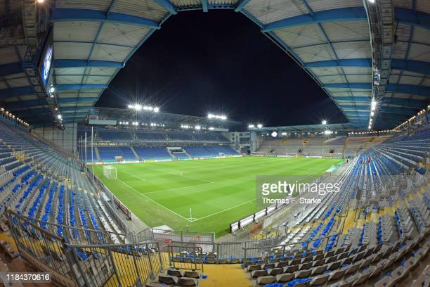 A general view of the stadium prior to the DFB Cup second round match between Arminia Bielefeld and FC Schalke 04 at Schueco Arena on October 29 2019...