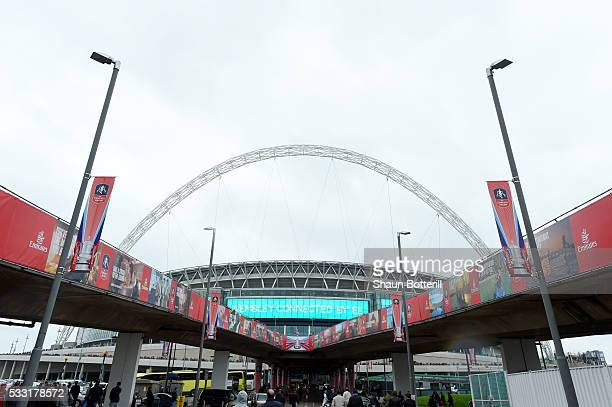A general view of the stadium prior to The Emirates FA Cup Final match between Manchester United and Crystal Palace at Wembley Stadium on May 21 2016...