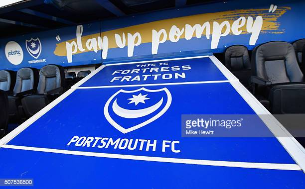 A general view of the stadium prior to the Emirates FA Cup Fourth Round match between Portsmouth and AFC Bournemouth at Fratton Park on January 30...