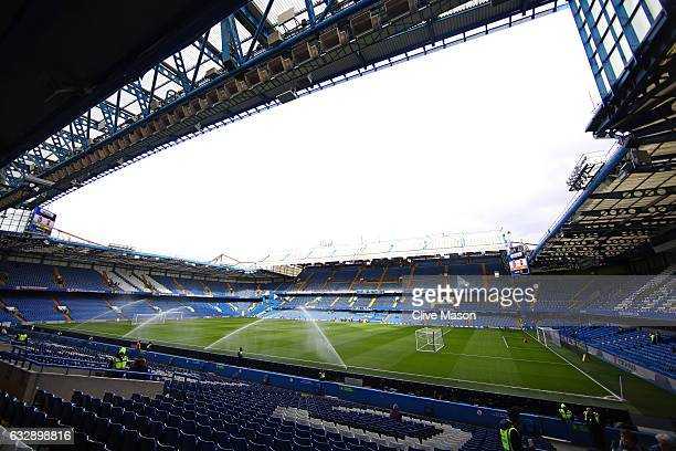 A general view of the stadium prior to the Emirates FA Cup Fourth Round match between Chelsea and Brentford at Stamford Bridge on January 28 2017 in...