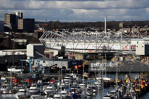 A general view of the stadium prior to the Emirates FA Cup Fourth Round match between Southampton and Arsenal at St Mary's Stadium on January 28 2017...