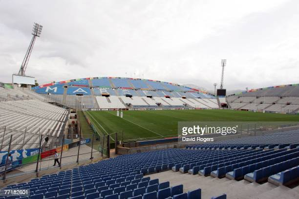General view of the stadium prior to the England kicking session at Stade Velodrome on October 4, 2007 in Marseille, France.
