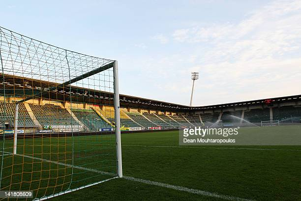 A general view of the stadium prior to the Eredivisie match between ADO Den Haag and FC Twente at Kyocera Stadium on March 24 2012 in The Hague...