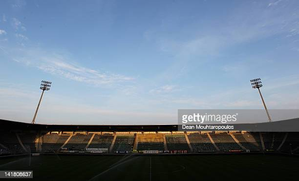 General view of the stadium prior to the Eredivisie match between ADO Den Haag and FC Twente at Kyocera Stadium on March 24, 2012 in The Hague,...