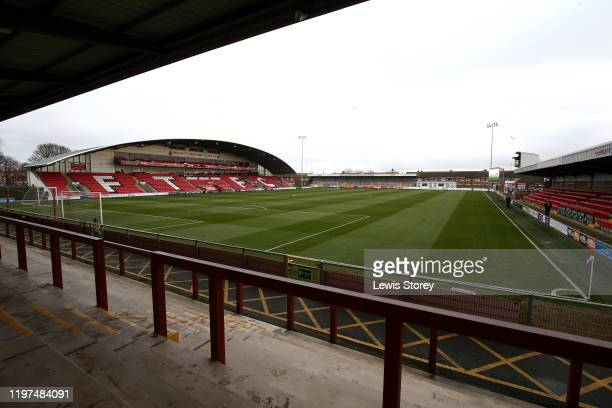 A general view of the stadium prior to the FA Cup Third Round match between Fleetwood Town and Portsmouth FC at Highbury Stadium on January 04 2020...