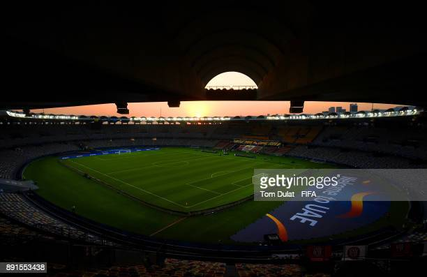 A general view of the stadium prior to the FIFA Club World Cup UAE 2017 semi final match between Al Jazira and Real Madrid CF at Zayed Sports City...