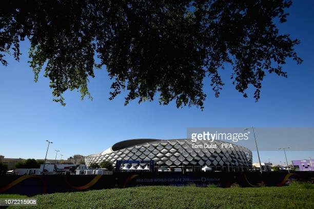 A general view of the stadium prior to the FIFA Club World Cup UAE 2018 match between Al Ain FC and Team Wellington FC at Hazza Bin Zayed Stadium on...