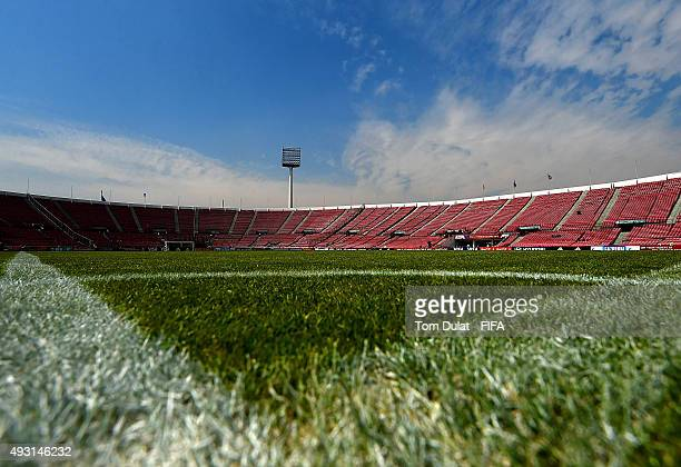 General view of the stadium prior to the FIFA U17 Men's World Cup 2015 group A match between Nigeria and USA at Estadio Nacional de Chile on October...
