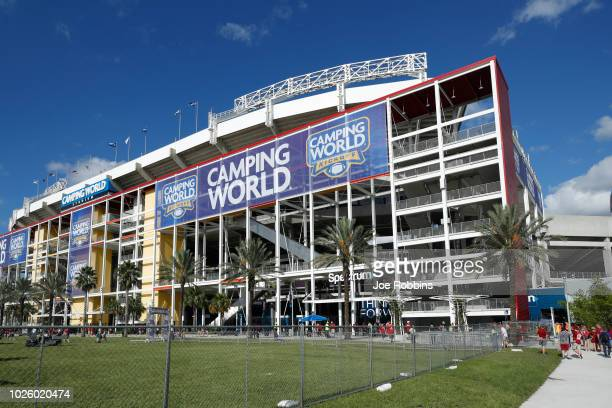 General view of the stadium prior to the game between the Alabama Crimson Tide and Louisville Cardinals at Camping World Stadium on September 1 2018...