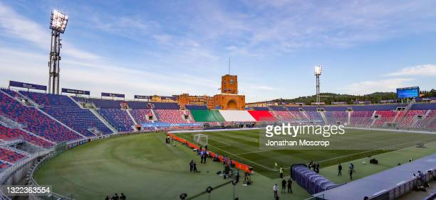 General view of the stadium prior to the international friendly match between Italy and Czech Republic at Stadio Renato Dall'Ara on June 04, 2021 in...