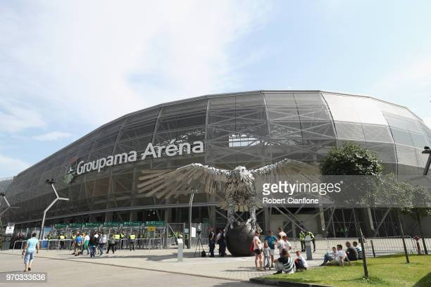 General view of the stadium prior to the International Friendly match between Hungary and Australia at Groupama Arena on June 9, 2018 in Budapest,...