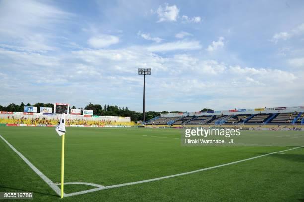 A general view of the stadium prior to the JLeague J1 match between Kashiwa Reysol and Kashima Antlers at Hitachi Kashiwa Soccer Stadium on July 2...