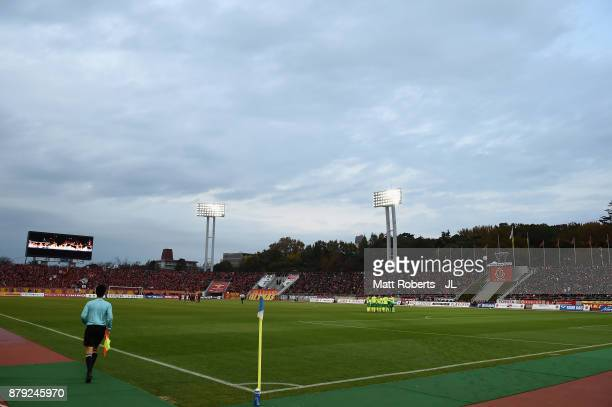General view of the stadium prior to the J.League J1 Promotion Play-Off semi final match between Nagoya Grampus and JEF United Chiba at Paloma Mizuho...