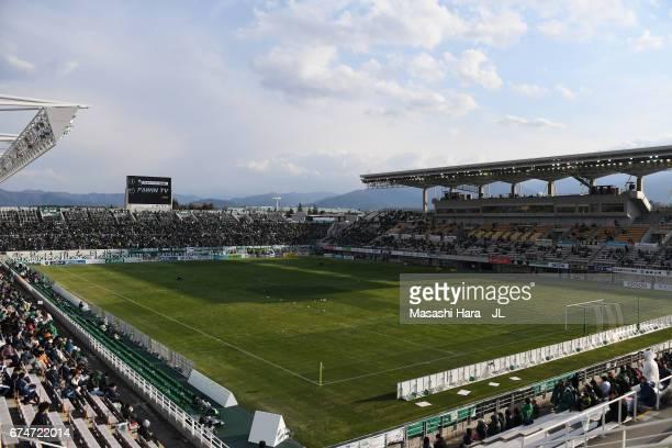 A general view of the stadium prior to the JLeague J2 match between Matsumoto Yamaga and Kamatamare Sanuki at Matsumotodaira Park Stadium on April 29...