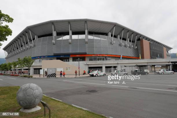 General view of the stadium prior to the J.League J3 match between AC Nagano Parceiro and Kagoshima United at Minami Nagano Stadium on May 13, 2017...