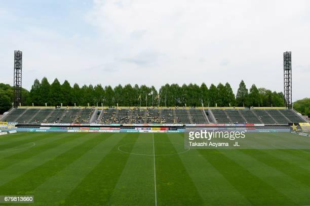 A general view of the stadium prior to the JLeague J3 match between Tochigi SC and Giravanz Kitakyushu at Tochigi Green Stadium on May 7 2017 in...