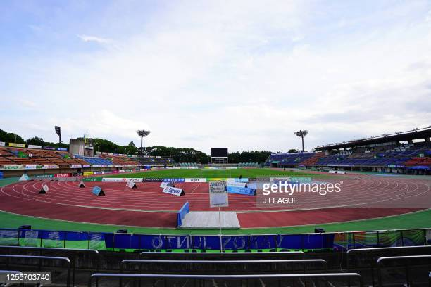 General view of the stadium prior to the J.League Meiji Yasuda J1 match between Shonan Bellmare and Consadole Sapporo at the Shonan BMW Stadium...
