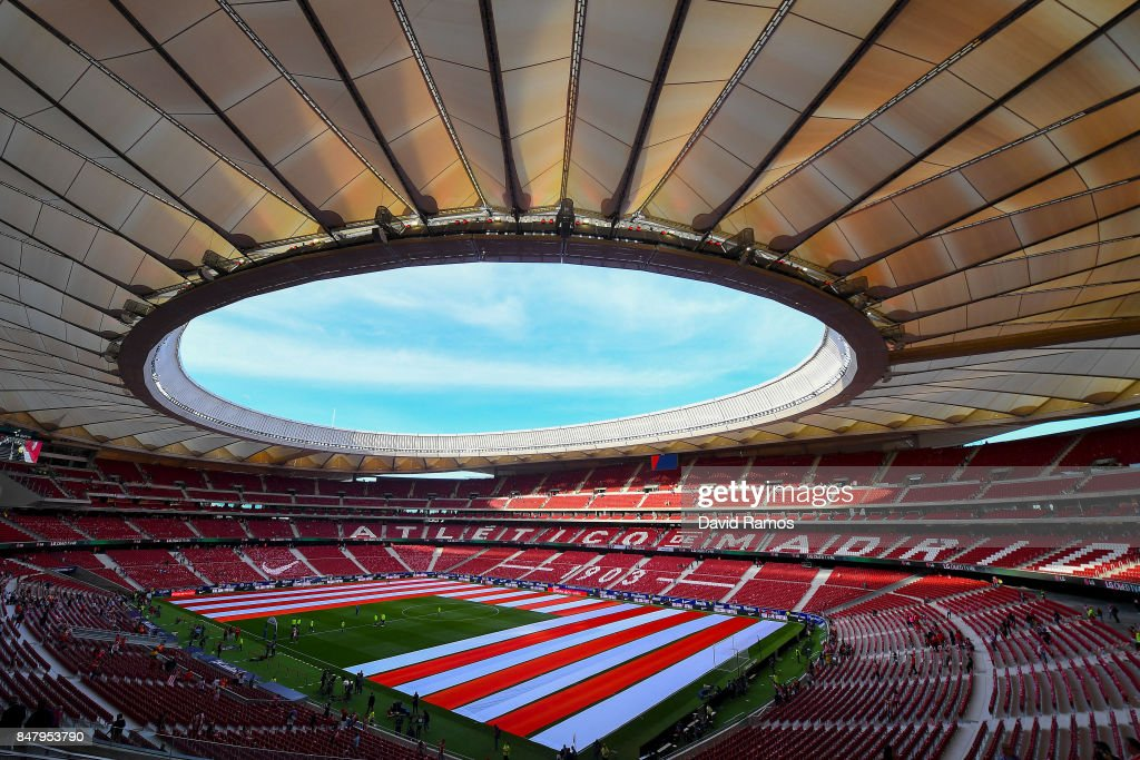 General view of the stadium prior to the La Liga match between Atletico Madrid and Malaga at Wanda Metropolitano stadium on September 16, 2017 in Madrid, Spain.