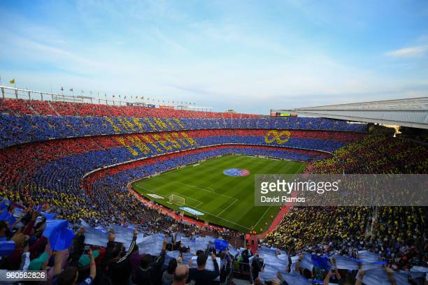 General view of the stadium prior to the La Liga match between Barcelona and Real Sociedad at Camp Nou on May 20 2018 in Barcelona Spain